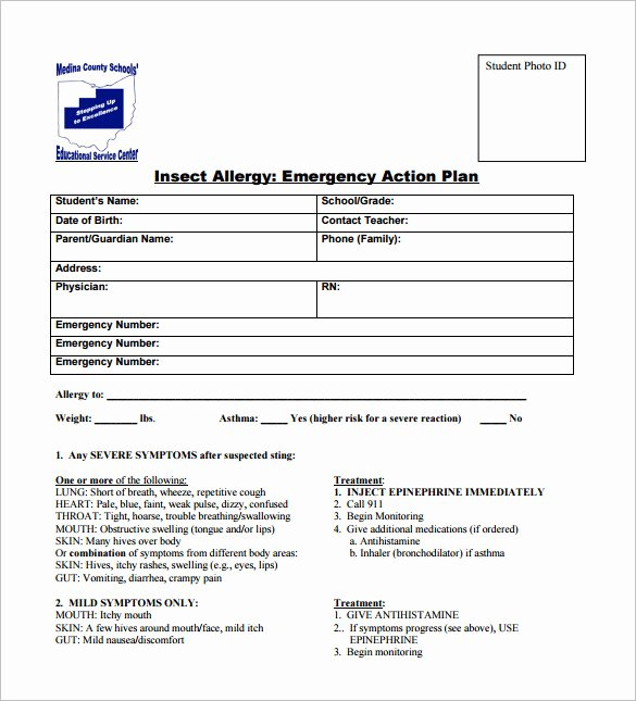 Emergency Action Plan Template Beautiful Emergency Action Plan Template