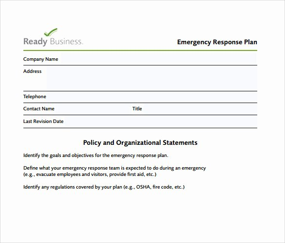 Emergency Action Plan Template Beautiful Sample Emergency Action Plan 11 Free Documents In Word Pdf