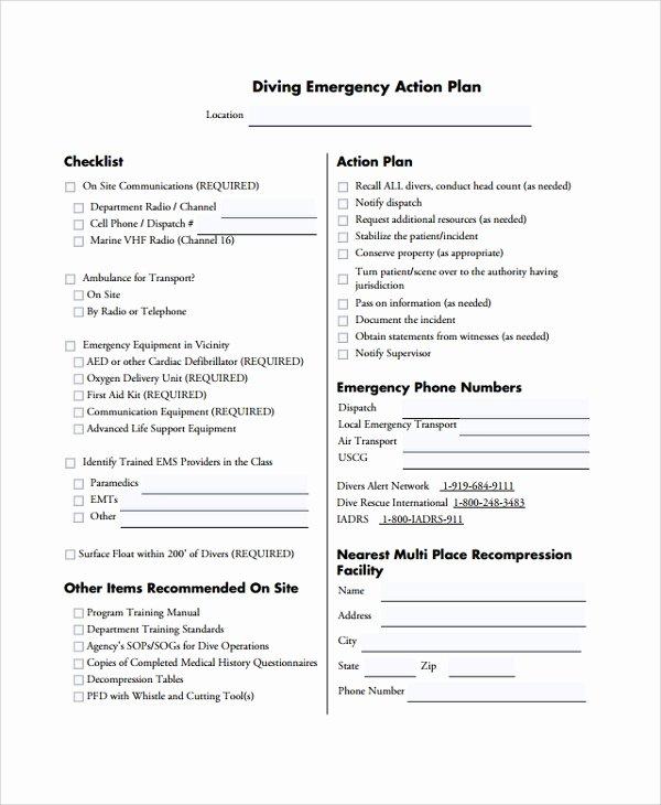 Emergency Action Plan Template Fresh 8 Emergency Action Plan Samples Examples & Templates