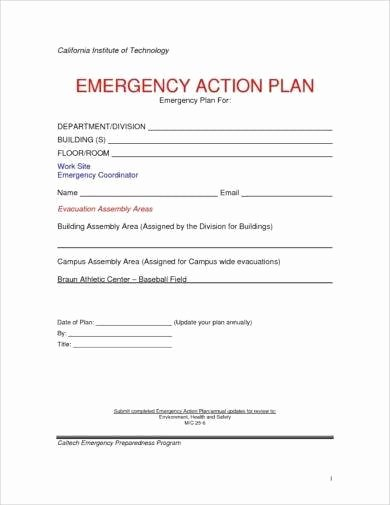 Emergency Action Plan Template New 11 Printable Emergency Action Plan Examples Pdf Docs