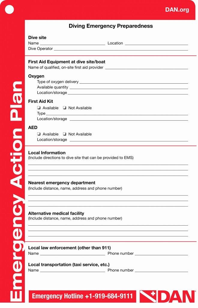 Emergency Action Plan Template Unique Dan Emergency Action Plan Template – Try Diving