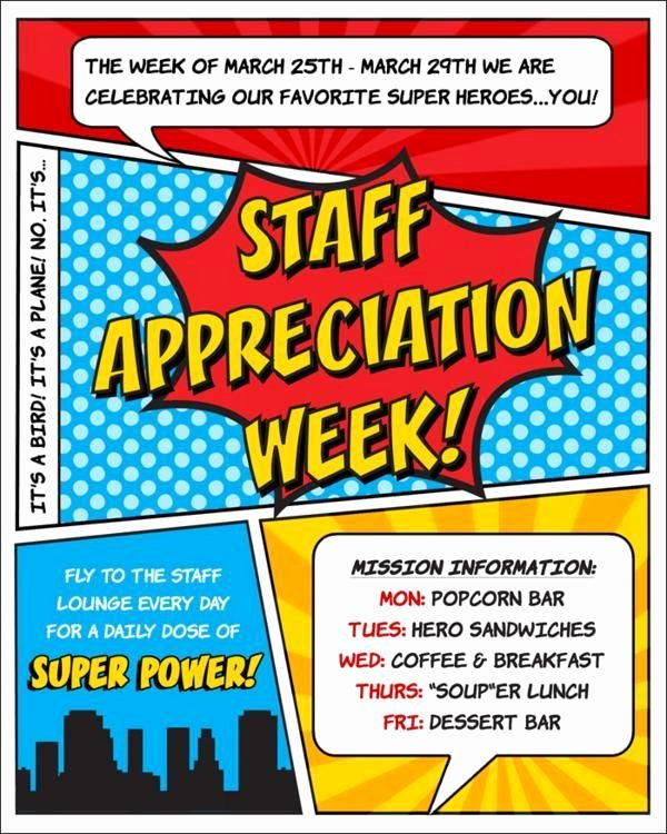 Employee Appreciation Day Flyer Template Inspirational Superhero Flyer Template Google Search