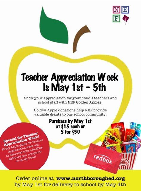 Employee Appreciation Day Flyer Template New order Teacher Appreciation Week Golden Apples by May 1