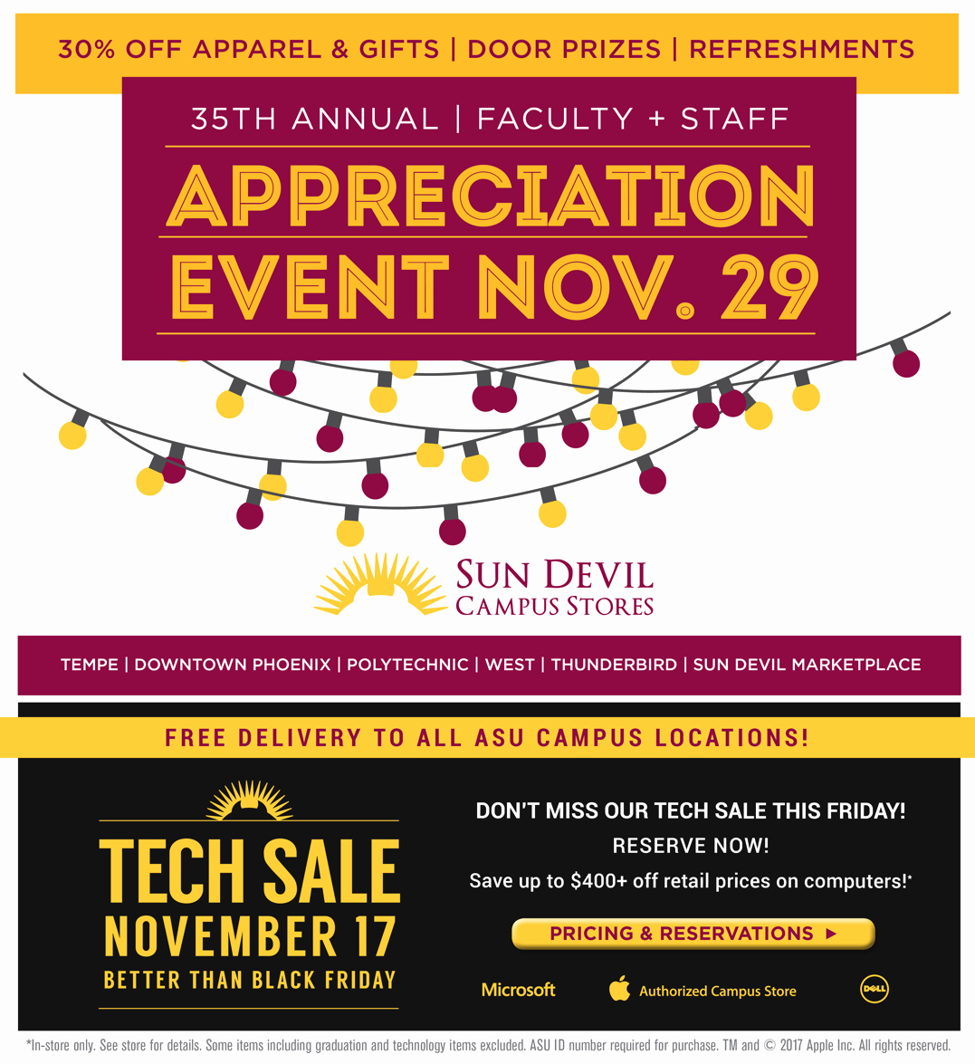 Employee Appreciation Flyer Templates Beautiful 35th Annual Faculty and Staff Customer Appreciation Sale