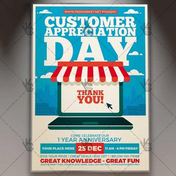 Employee Appreciation Flyer Templates Beautiful Customer Appreciation Day Business Flyer Psd Template