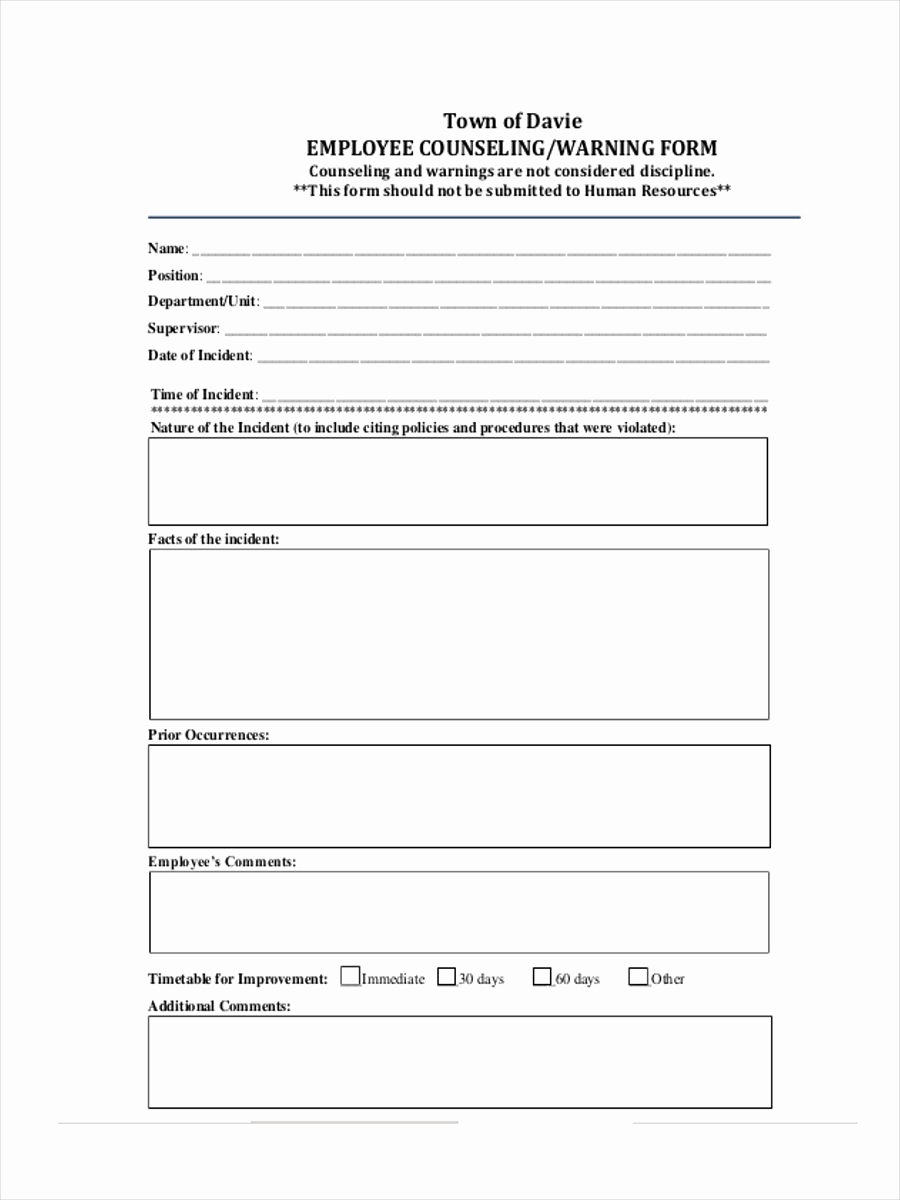 Employee Counseling form Beautiful Free 34 Counselling form Templates