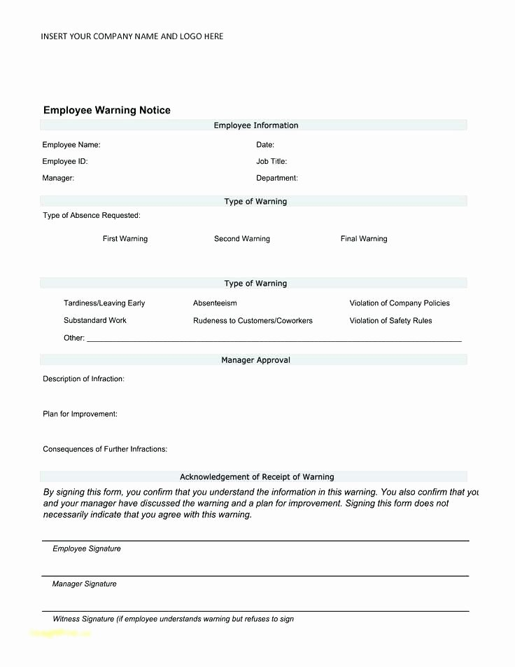 Employee Counseling form Best Of Employee Counseling form Template