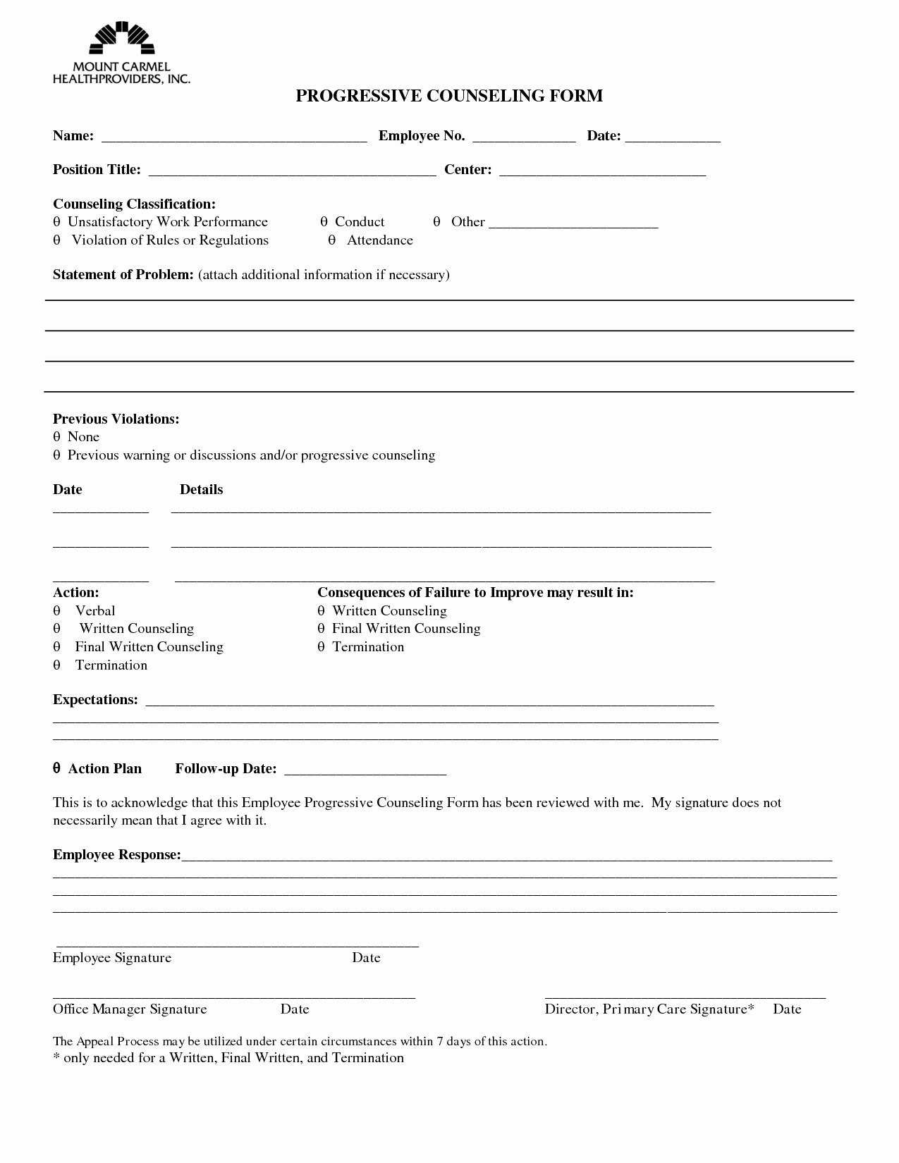 Employee Counseling form Lovely 30 Cash Register Count Sheet