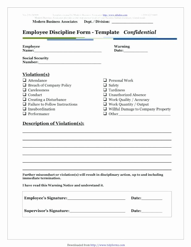 Employee Counseling form Sample Beautiful Employee Misconduct form Template Write Up Templates Free