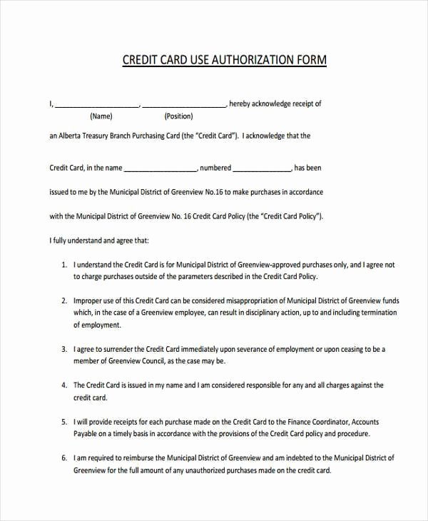 Employee Credit Card Agreement Template Best Of Free 49 Employment form Templates