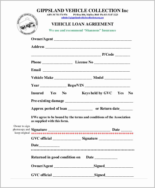 Employee Credit Card Agreement Template Fresh Loan Agreement form