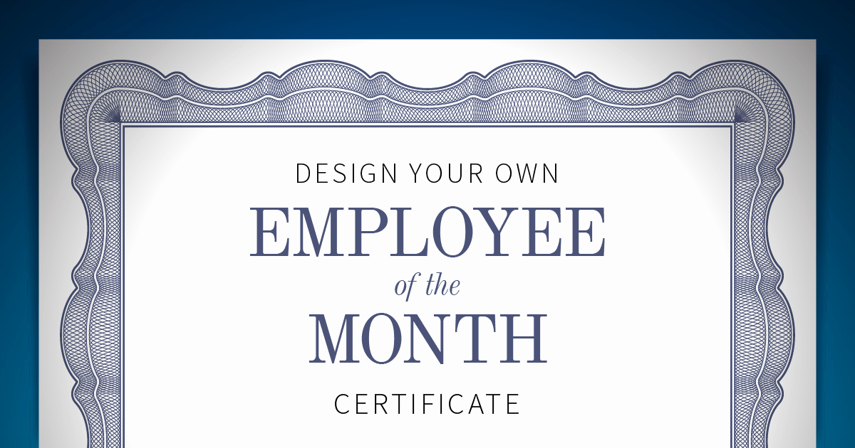 Employee Of the Month Awards Templates Elegant Employee Of the Month Certificate