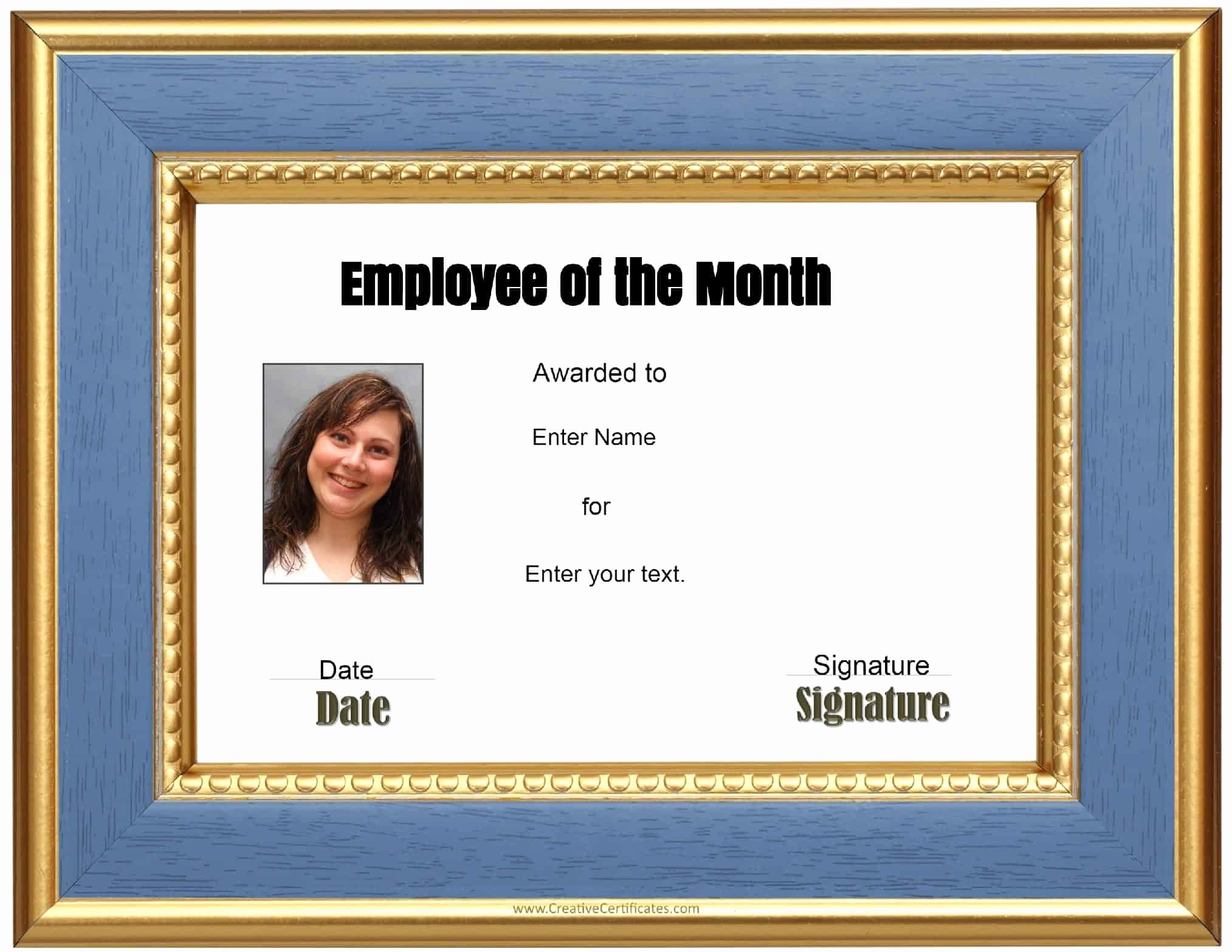 Employee Of the Month Awards Templates Elegant Employee Of the Month Certificate Template Driverlayer