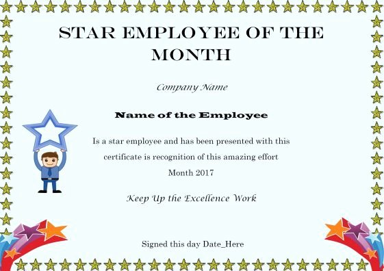 Employee Of the Month Awards Templates Inspirational Pin On Phd