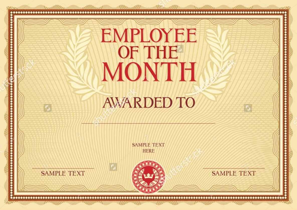 Employee Of the Month Awards Templates Luxury Employee the Month Award Template Template Update234