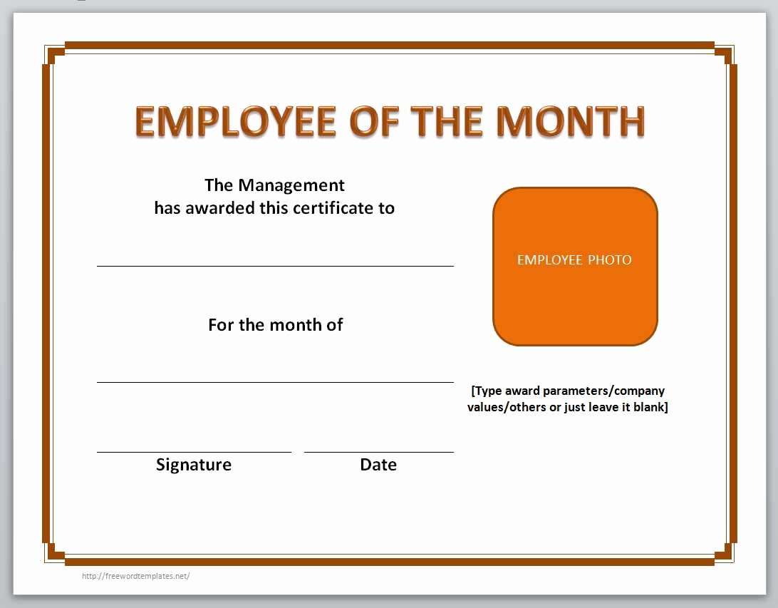 Employee Of the Month Awards Templates Unique 13 Free Certificate Templates for Word
