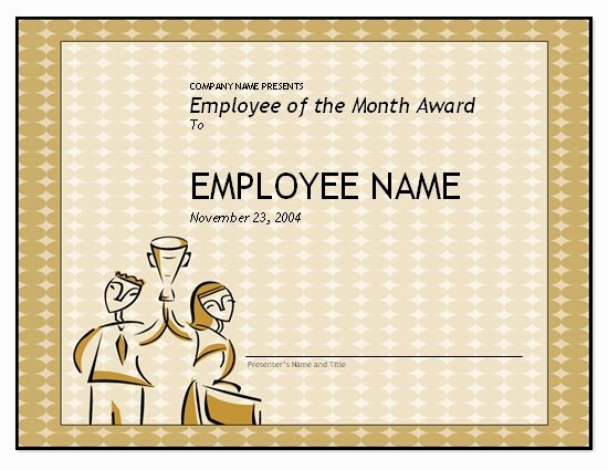 Employee Of the Month Awards Templates Unique Employee the Month Template