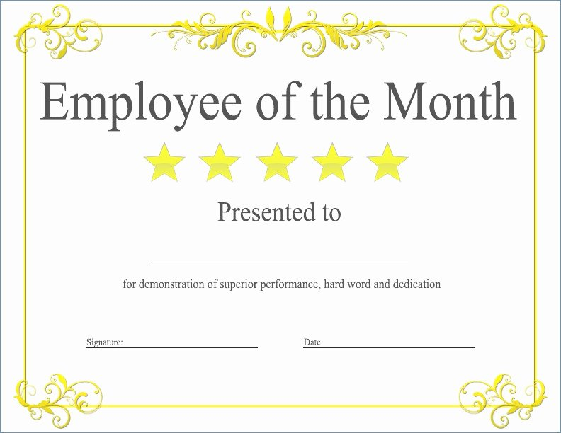 Employee Of the Month Awards Templates Unique Funny Certificates Template