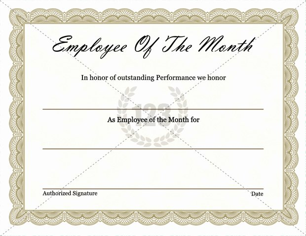 Employee Of the Month Certificate Free Template Awesome 37 Awesome Award and Certificate Design Templates for