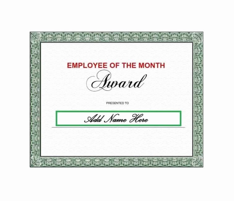 Employee Of the Month Download Awesome 30 Printable Employee Of the Month Certificates