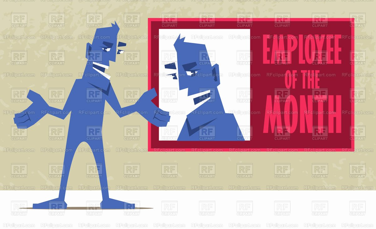 Employee Of the Month Download Best Of Employee Of the Month Happy Man Pointing at His Portrait