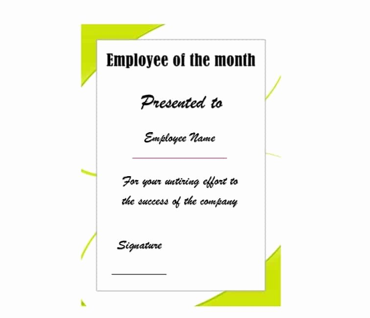Employee Of the Month Download Fresh 30 Printable Employee Of the Month Certificates
