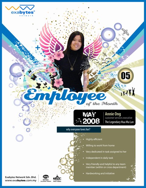 Employee Of the Month Download Inspirational May 2008 Employee Of the Month Exabytes Web Hosting Blog