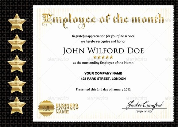 Employee Of the Month Download Lovely Retirement Certificate Template 6 Download Documents In