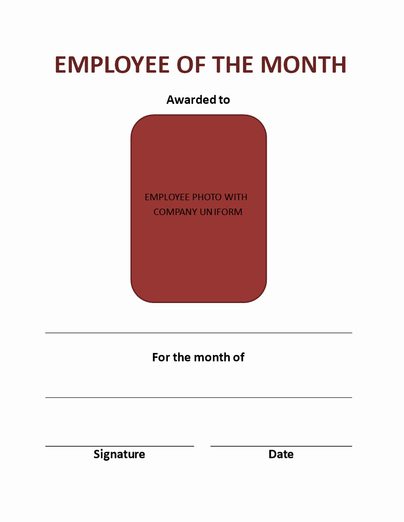 Employee Of the Month Download Luxury Employee the Month Certificate Portrait Download This