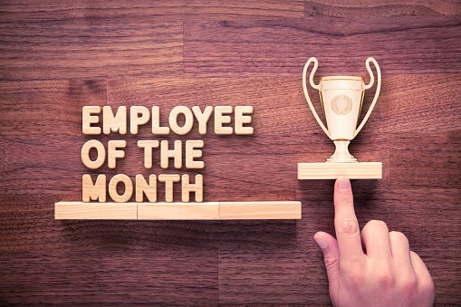 Employee Of the Month Download Luxury Employee the Month Stock Download Image now