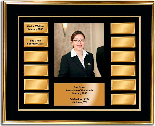 Employee Of the Month Frame Awesome Employee Of the Month Frame Award Gold and Gold Horizontal