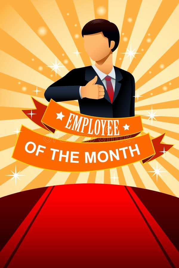 Employee Of the Month Frame Beautiful Employee the Month Poster Frame Stock Vector