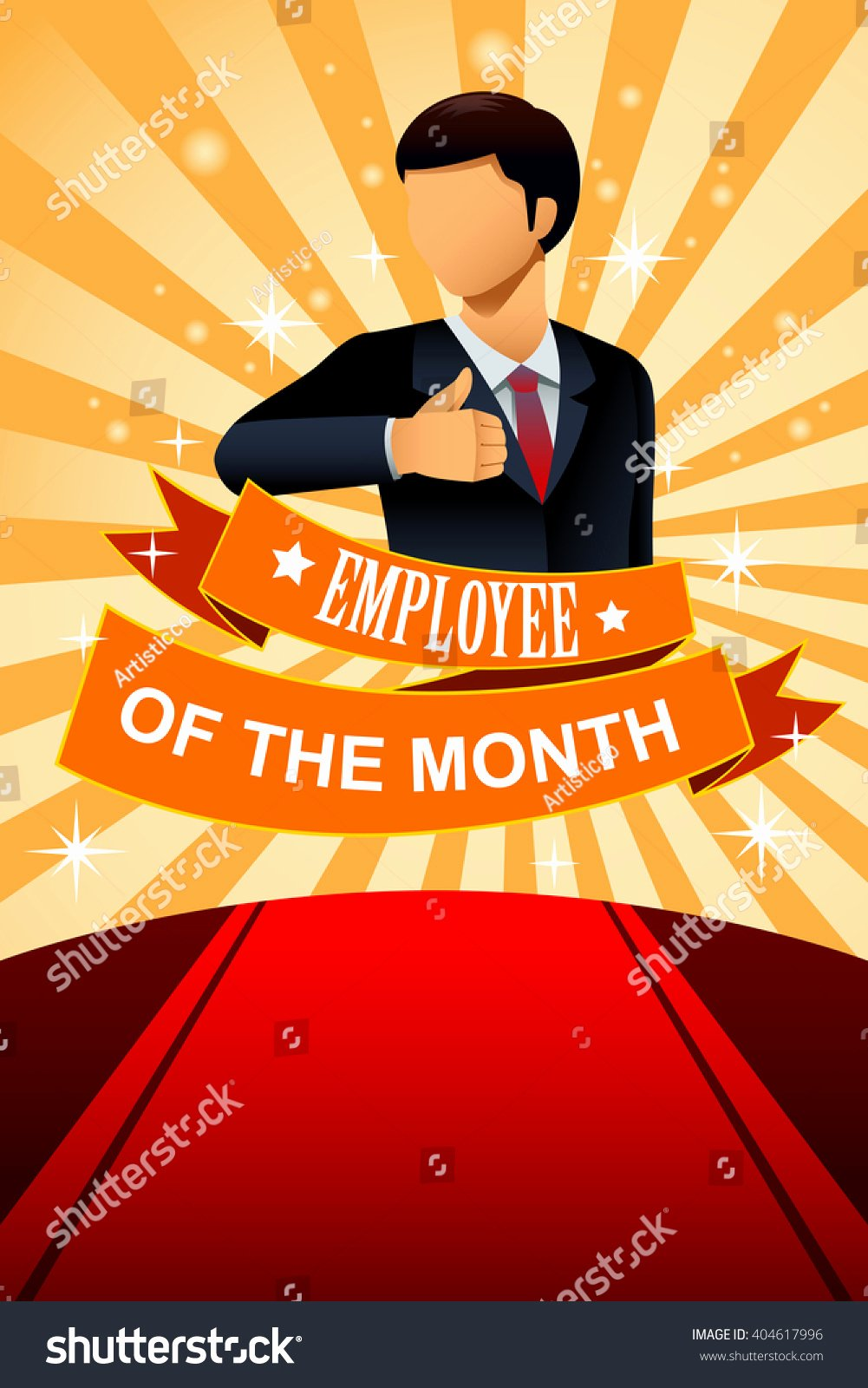 Employee Of the Month Frame Best Of A Vector Illustration Employee the Month Poster