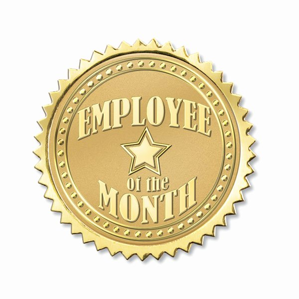 Employee Of the Month Frame Best Of Employee Of the Month Foil Seals