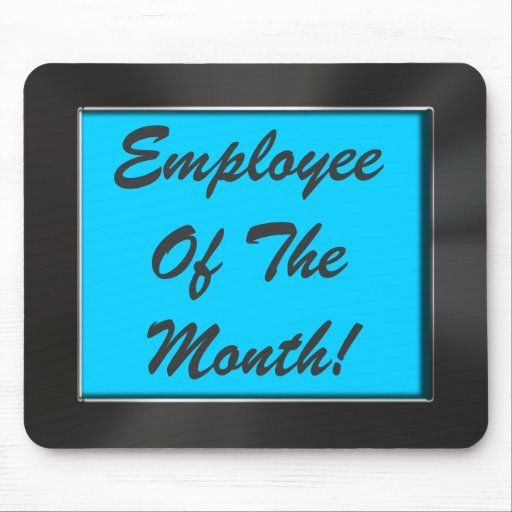 Employee Of the Month Frame Elegant Employee the Month Metal Look Frame Mousepad