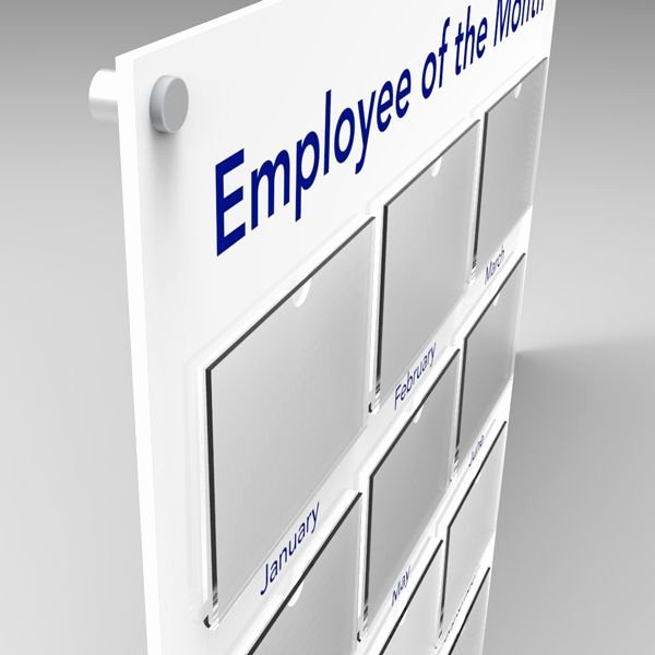 Employee Of the Month Frame New Employee Of the Month Board Small