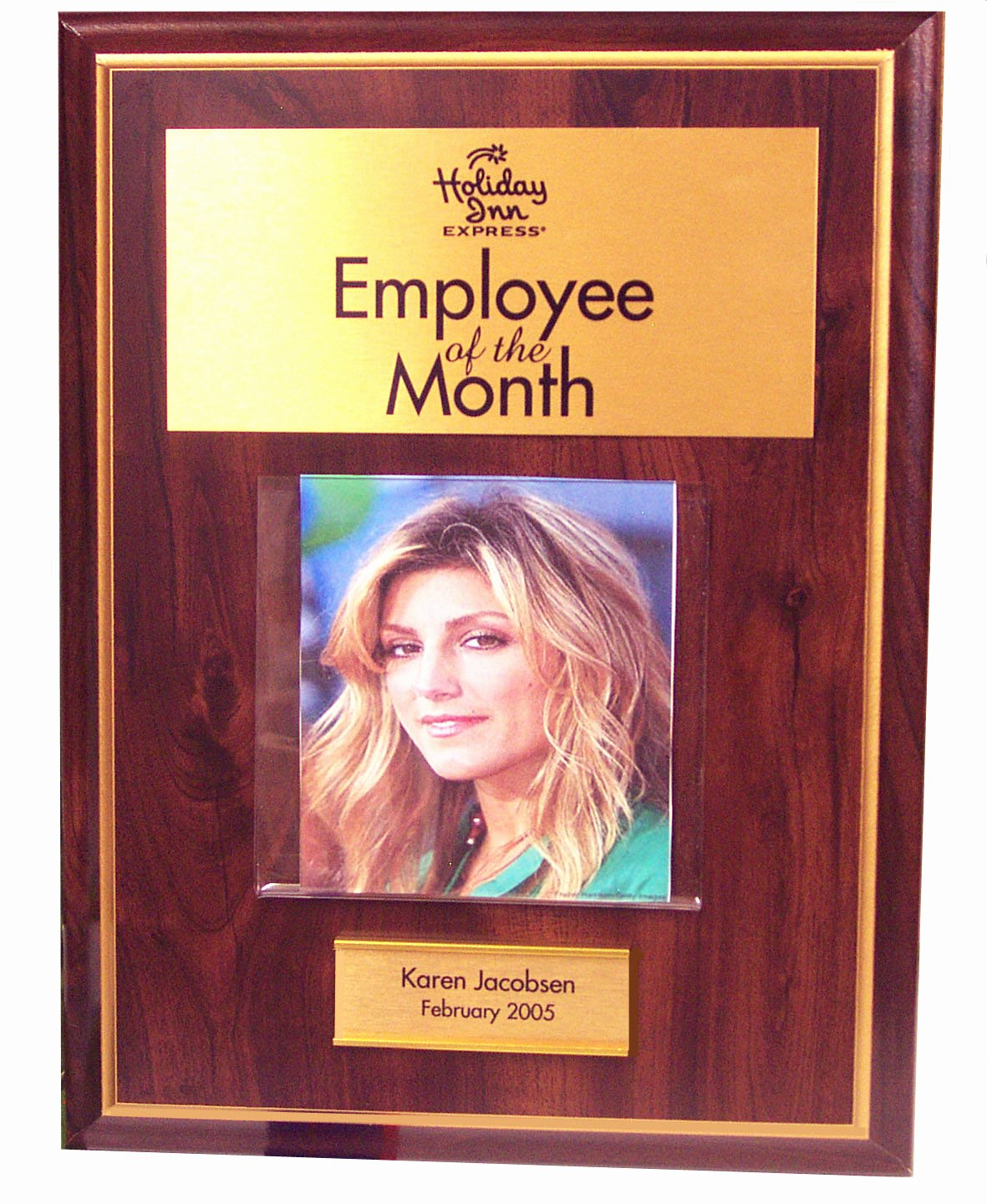 Employee Of the Month Frame New Employee Of the Month Plaque 9x12 with 12 Name Plates