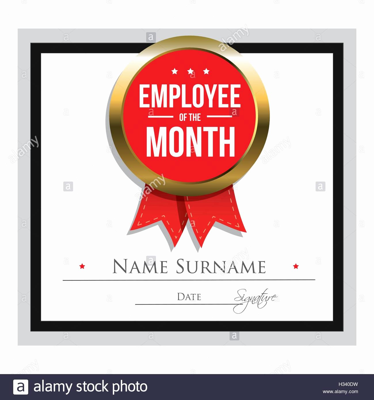 stock photo employee of the month certificate template