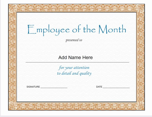 Employee Of the Month Frame Template Elegant Employee the Month Template