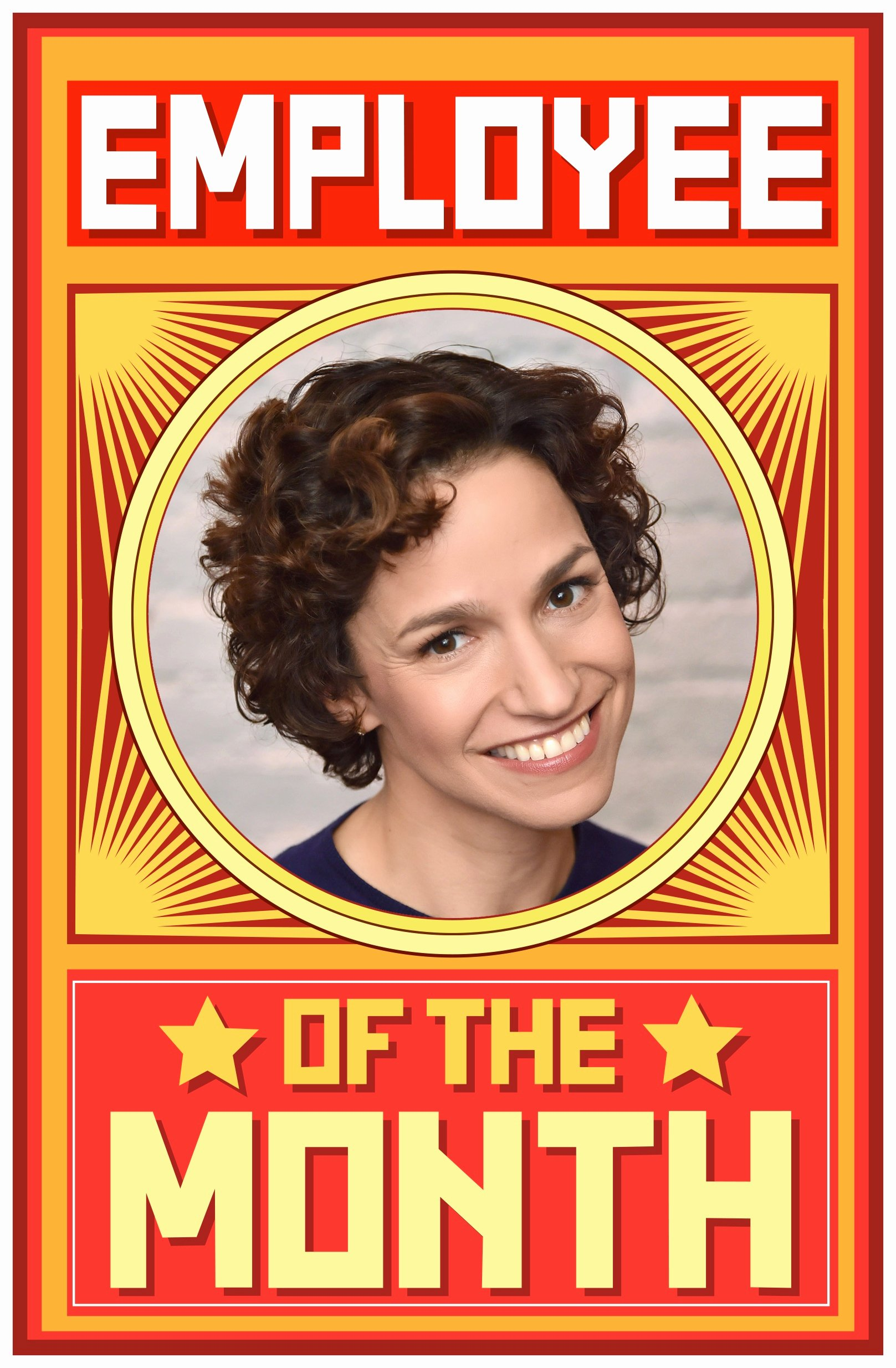 Employee Of the Month Frame Template Elegant Spotlight Employee Of the Month's Catie Lazarus On