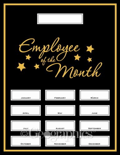 Employee Of the Month Frame Template Inspirational Employee the Month Kit