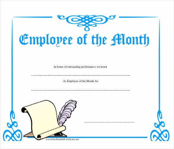 Employee Of the Month Frame Template Inspirational Employee the Month Template