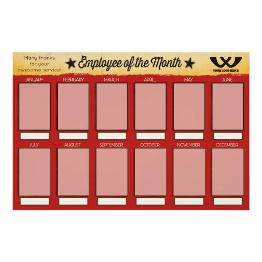 Employee Of the Month Frame Template New 4x6 Photos Board Employee Of the Month Poster