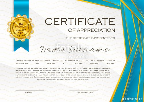 "Employee Of the Month Frame Template New ""qualification Certificate Of Appreciation Design"