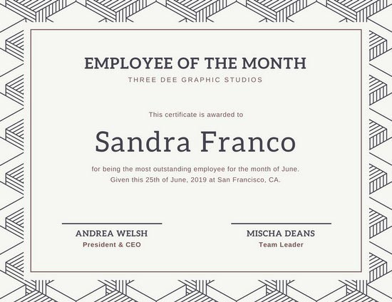 Employee Of the Month Frame Template New Use Free these Design Templates On Canva On Behance