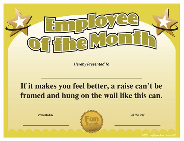 Employee Of the Month Frame Template Unique Employee the Month Template
