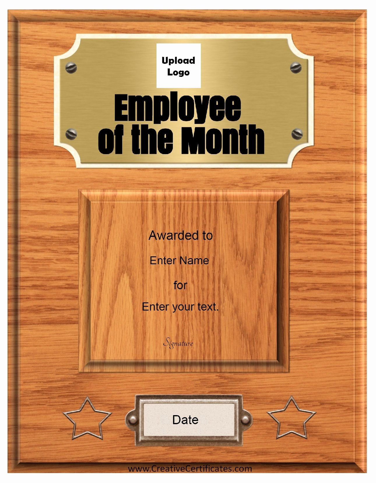 Employee Of the Month Frame Unique Employee Of the Month Template with Picture Employee Month