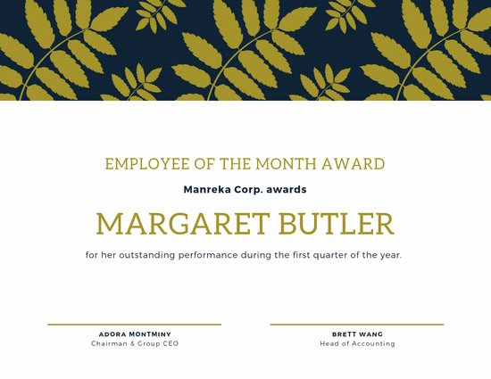 Employee Of the Month Online Best Of Customize 144 Employee the Month Certificate Templates
