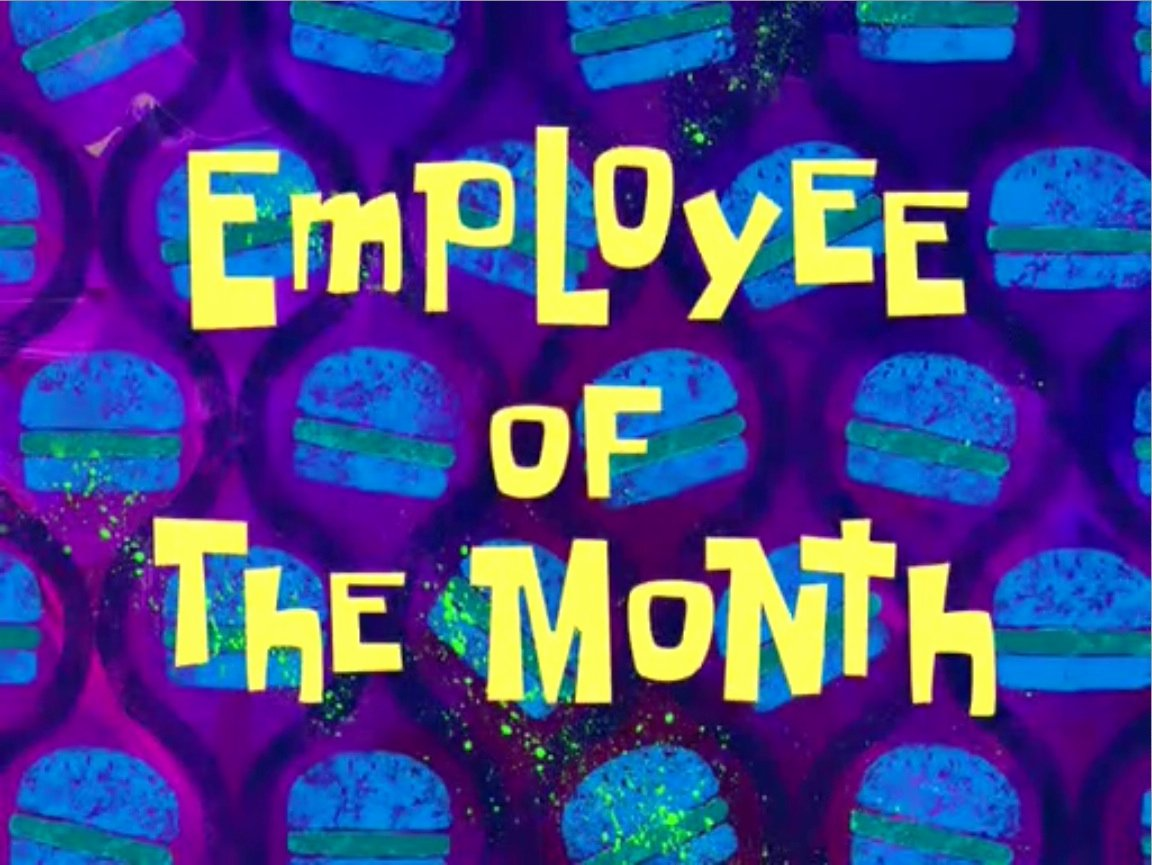 Employee Of the Month Online Fresh Employee Of the Month Encyclopedia Spongebobia the