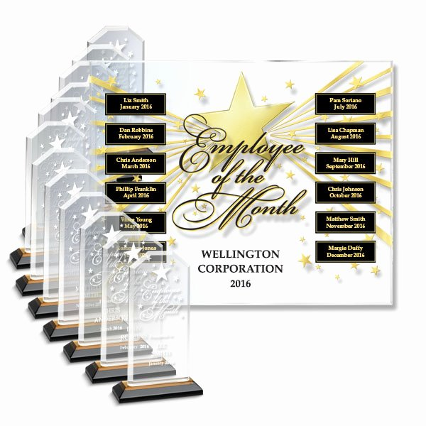 Employee Of the Month Online Lovely Star Studded Employee Of the Month Perpetual Plaque